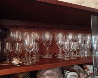 Baccarat crystal glassware.