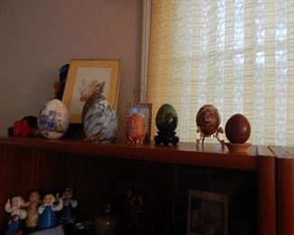 Collection of display eggs , mostly Russian.