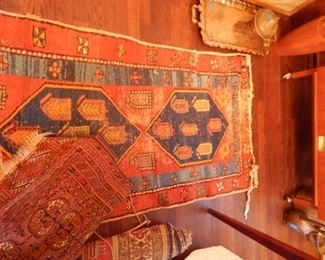Antique Persian runners and rugs.