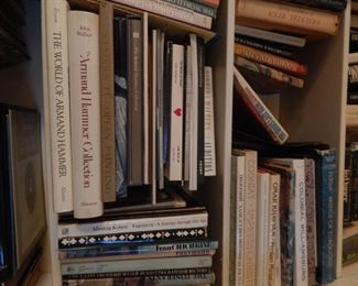 Books, many of them are reference books and art books.