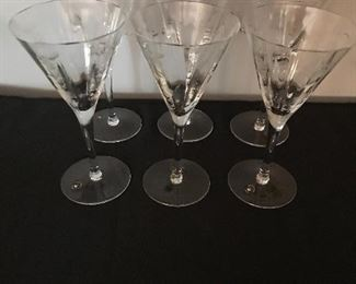 Romanian crystal wine glasses