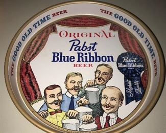 Pabst beer tray