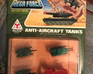 Die cast tanks, planes