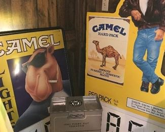 Camel signs, Winston box