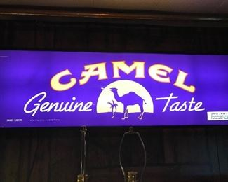 Camel sign, lighted
