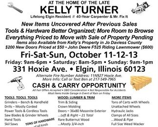 Sale Flyer with List of Items Available