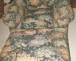 Super floral chair and ottoman.