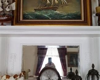 Oil on canvas of ship