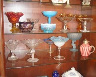 Beautiful antique glassware - much of this is still available for half-price Saturday !!!