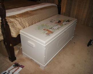 Custom painted cedar chest