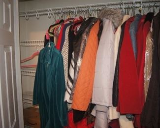 Women's coats and jackets.  Sizes L / XL or 14