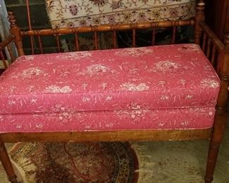 Fabric covered bench