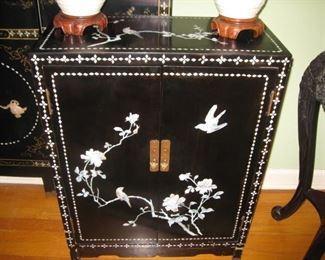 Black laquer cabinet