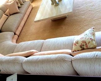 PFL007 Italian Silk Sectional Sofa