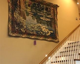 Large Tapestry 5'4 by 7'2 serene water scape