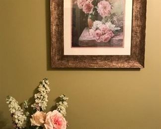 Nice print and flower arrangement