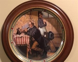 Norman Rockwell prints framed