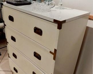 A WONDERFUL MID CENTURY CHEST WITH A ASIAN FLAIR