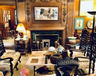An amazing Shaker Heights home filled with an extraordinary collection of beautiful and fascinating Antiques from all world cultures!