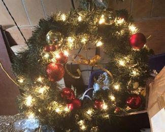 lighted wreath $5 each