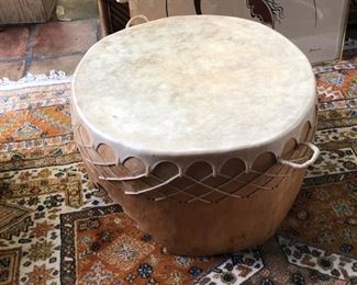 NATIVE AMERICAN DRUM TABLE