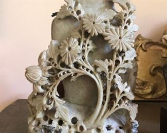CARVED CHINESE SOAPSTONE