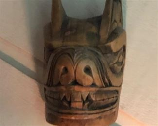 LOTS OF AFRICIAN AND SOUTH AMERICAN MASKS