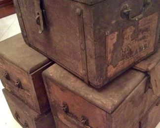 Old Orleans Parish Wooden Voting/Ballot Boxes, Circa 1800's