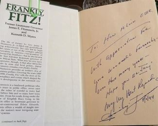 Inscribed to Alvin Oser Signed by Jimmy Fitzmorris