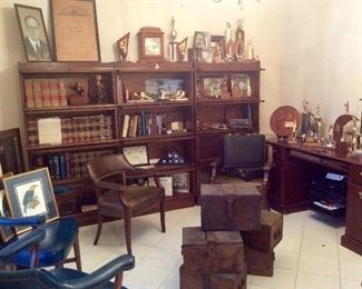 Judge Osers home Office & Library (Barrister Bookcases and Contents for sale)