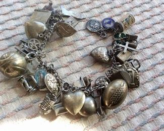 Vintage Sterling Charm Bracelet filled with Charms