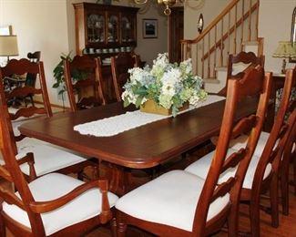 D/Rm Farm Table & 8 Chairs