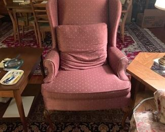 Wing back chair - $25