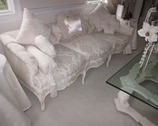 FRENCH Living Room Suite With CARVED VICTORIAN PARLOR SET CHAIRS SOFA