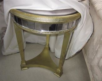 Brass & Mirrored Accent Table