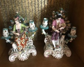 Pair of porcelain figurines