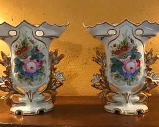 Pair of old Paris vases