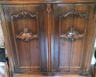 Carved 2 door chest