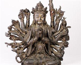Chinese Ming Dynasty Multi-Armed Avalokitsvara