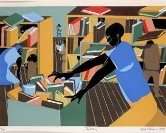 Jacob Armstrong Lawrence Signed Lithograph