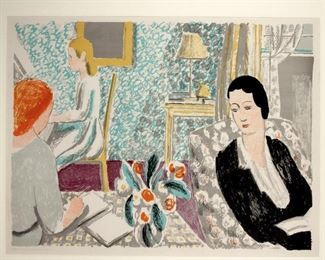 Vanessa Bell (British 1879-1961) Color Lithograph The School Room c. 1939