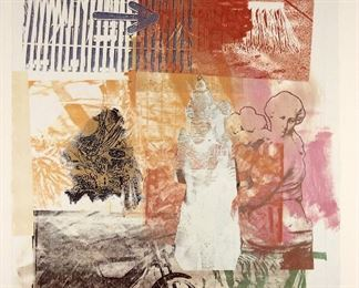 Robert Rauschenberg (American 1925-2008) Print Untitled