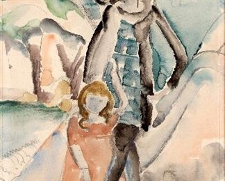 William Zorach (American 1887-1986) Watercolor on Paper Untitled