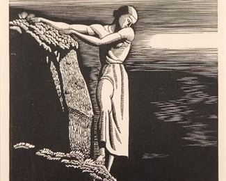 Rockwell Kent A.N.A. (American 1882-1971) Wood Engraving The Abyss