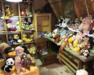 Huge collection of Teddy Bears - still more in totes to unpack!