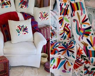 Otomi Runners/Napkins and Pillows-Beautiful Artwork and colorful