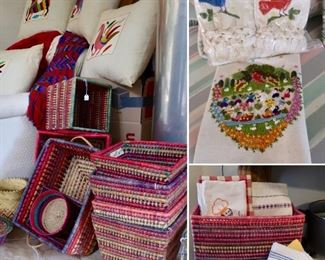 Mexican Baskets and Beautiful Linens
