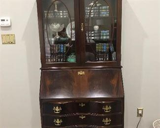 Large Antique made Secretary Drop Front Desk Cabinet. Excellend condition