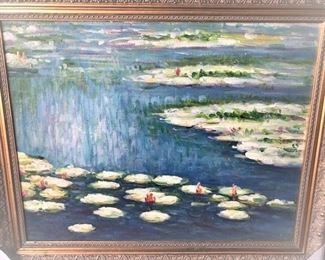 Lily Pad Original Oil Painting