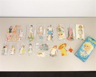 Lot of Vintage Paper Doll Cutouts
